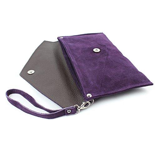 Aossta Envelope Italian handbag Suede Wedding Black Large Purse Party Shaped Bag Clutch Clutch w6qATxw