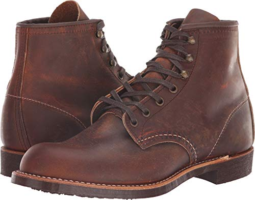 Red Wing Heritage Men's Blacksmith Work Boot, Copper Rough and Tough, 9 D US (Shoes Toe Steel Wings Red)