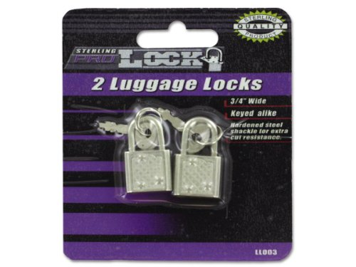 Luggage Locks With Keys - Case of 144 by Sterling