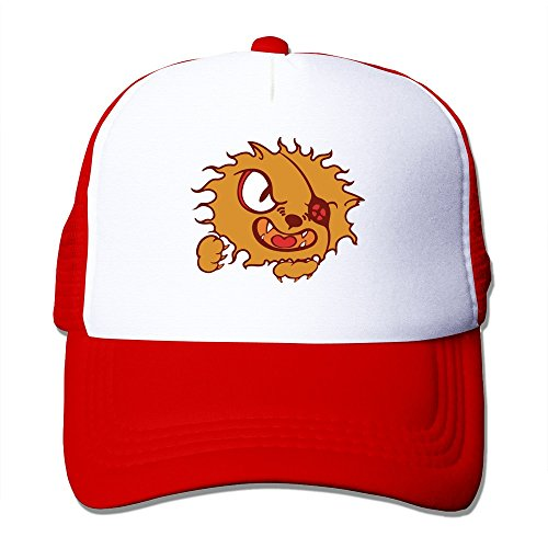 GGTAI Custom Cartoon Pirate Lion Mesh Hat Red (Cartoon Pirate Hat)