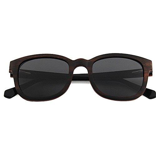 polarizadas Protección a de Peggy Sol Playa conducción Gafas de Sol Hombre Gafas Hechas Gafas Sol UV Calidad de Sol Color de de de de Gu de Alta Mano Madera Negro Marrón Gafas para WrrBcYSU