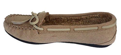Elegante Casual Faux Suède Beige Mocassin Loafers Van Vrouwen, Beige