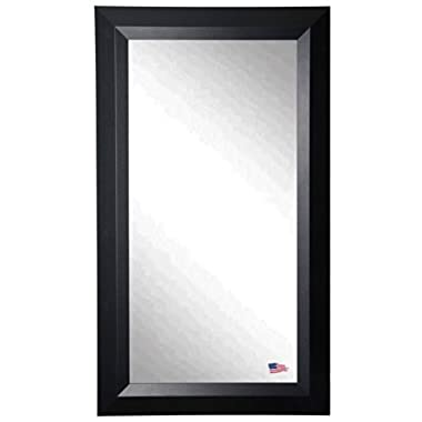 American Made Rayne Solid Black Angle 30.5 x 65.5 Floor Mirror