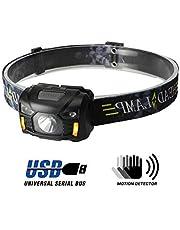 Fitself Lampe Frontale à LED   Accessoire Portable 3W pour Activités de Plein Air   Rechargeable USB   5 Modes d'Éclairage et Orientable 60 °   Randonnée, Running, Camping, Survie, VTT   Étanche