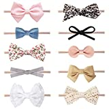 Baby Girl Headbands and Bows, Newborn Infant Toddler Nylon Hairbands Hair Accessories by LittleJoJo: more info