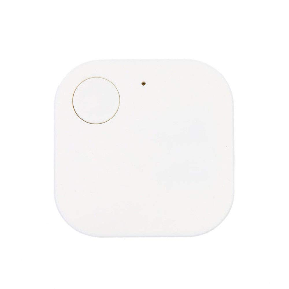Mini GPS Tracker, Car Motor GPS Tracker Wallet Keys Alarm Locator Realtime Finder Device, Locator Positioning Spy Tracker for Vehicles Pet Child Elder People Luggage Phones Anti-Lost Tracker (White)