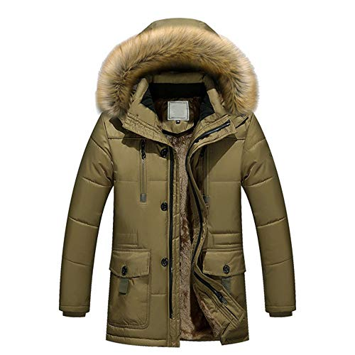 Outerwear Thick Classic Windproof Overcoat Coat Zipped Men Softshell Jacket Cotton Fleece Solid Trench Warm Hooded Winter Padded vpass 0qxwTSgH0