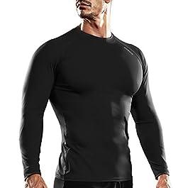 DRSKIN Men's Thermal Wintergear Fleece ColdGear Compression Baselayer Long Sleeve Under Top T Shirts title