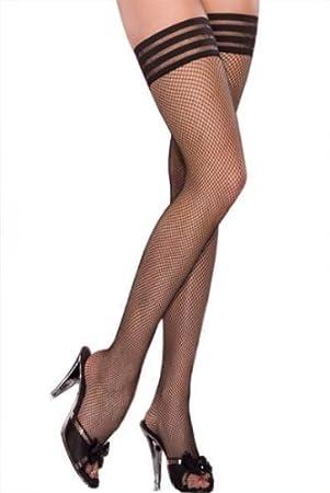 Black fetish stocking that