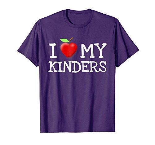 I Love My Kinders Cute Kindergarten Teacher Apple T-Shirt