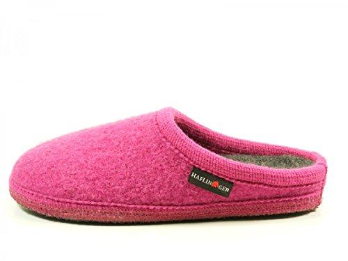 Haflinger 611086 Walktoffel uni Pantuflas de tela unisex Pink