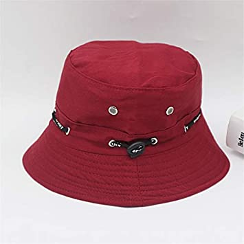 Amazon.com  TreeMart Iron Hole Long Tape Bucket Hats Popular Style Cap  Couples Cap for Summer  Kitchen   Dining 54d591a97cf