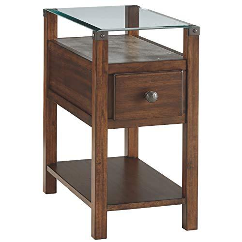 Price comparison product image Ashley Furniture Signature Design - Diamenton Chairside End Table - Dark Brown