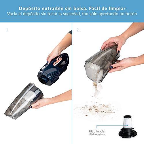 senza sacchetto leggero serbatoio da 0,5 l. 800 W Samba Aspirapolvere verticale e manuale DuoStick Aspirapolvere bidet 2 in 1 filtro HEPA