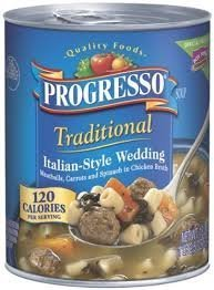 - Progresso, Traditional Soups, 18.5oz Can (Pack of 6) (Italian-Style Wedding)