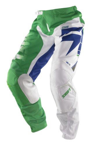 Shift Racing Strike Glory Men's Motox/Off-Road/Dirt Bike Motorcycle Pants - White/Green/Size - Shift Strike Pants