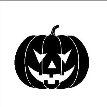 Halloween pumpkin decal halloween vinyl sticker removable wall art black