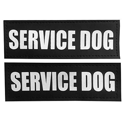 Fairwin Dog Patches for Service Dogs, Reflective and Removable Dog Tags for Service Dog Vest Harness. S, 4.5x 1