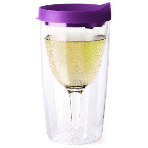 Purple Slide Vino2Go Plastic Tumbler