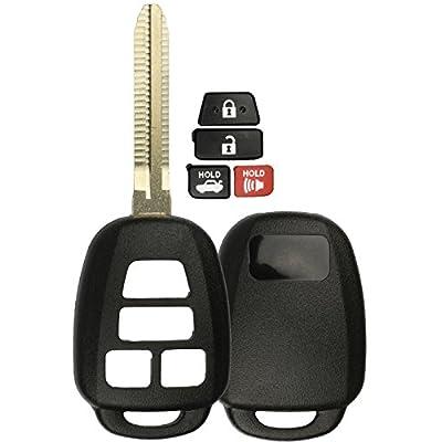 KeylessOption Keyless Entry Remote Uncut Car Blank Key Blade Case Fob Shell for Toyota Camry Scion HYQ12BDM: Automotive
