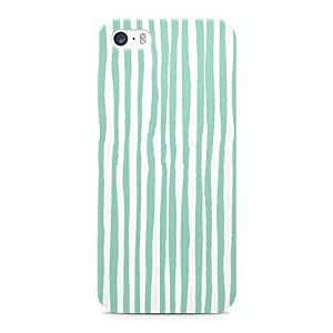 Loud Universe Confetti Pattern Green And White Durable Sleek Wrap Around iPhone SE Case - Green and White