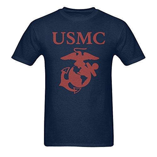 Men's United States Marine Corps USMC Logo T-shirt Navy XXXL ()