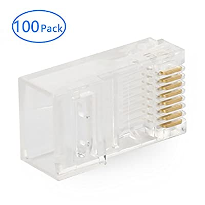 Tainston RJ45 Connector CAT5 CAT5E CAT6 Ethernet Connector UTP 8P8C Lan Crystal Head Plugs