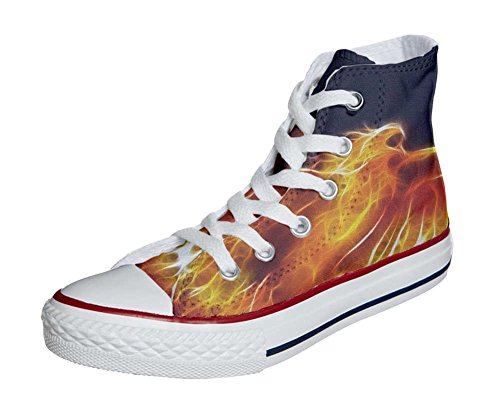 Converse All Star Customized - zapatos personalizados (Producto Artesano) Fire