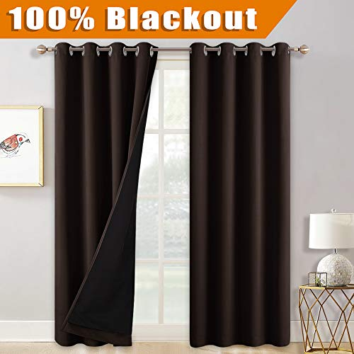 RYB HOME Curtains 84 inch Length for Living Room