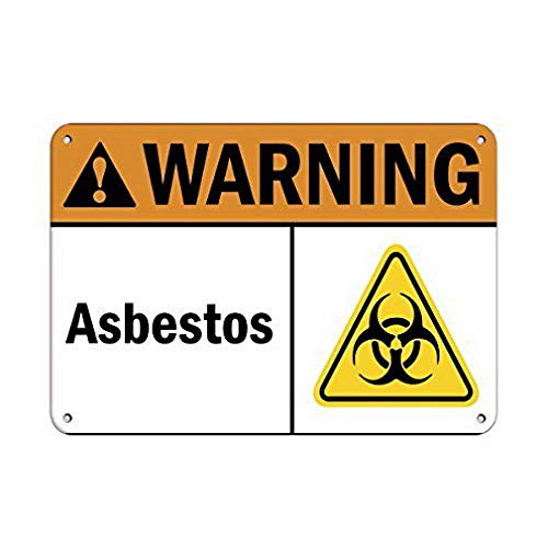 - Weytff Personalized Metal Signs for Outdoors Warning Asbestos Hazard Sign Asbestos Metal Sign 12 X 16 Inch
