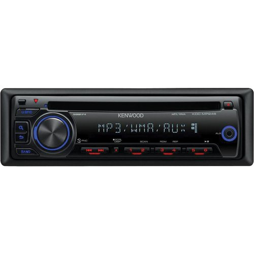kenwood kdc mp245 in dash cd receiver with front aux input  kdc mp245 wiring #11