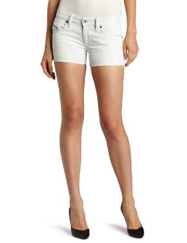 Diesel Women's Peghy Stripe Short, Denim, 27
