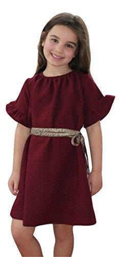 A. Bird Big Girls Bess Ruffle Sleeve Bell Dress Size: 12 Ruby