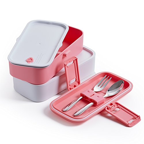 proaid leakproof lunch bento box 2 layers design lunch box with silverware bpa free safe for. Black Bedroom Furniture Sets. Home Design Ideas