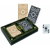 KEM Arrow Black and Gold, Bridge Size-Jumbo Index Playing Cards (Pack of 2)