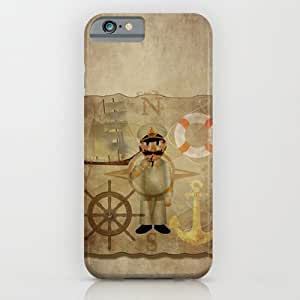 Captain, Ship, Rudder, Anchor, Lifebelt, Map, Comp? For Iphone 5C Case Cover Case by Hand Fan