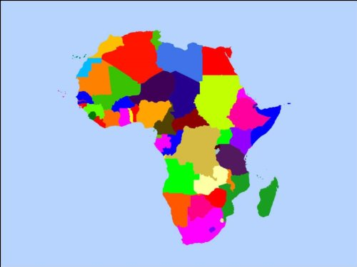 A4 Africa / African Continent Map Cake Toppers Decorations on Rice ...