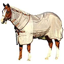 Rambo Horseware Protector Fly Sheet, Oatmeal/Brown, 78