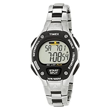 Timex T5H981 Ironman 30-Lap Stainless Steel Bracelet Watch  Amazon.ca   Sports   Outdoors f6775d5295d