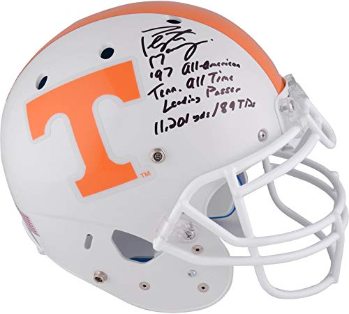 Peyton Manning Tennessee Volunteers Autographed Schutt Full Size Authentic Helmet with Multiple Inscriptions - Limited Edition of 16 - Fanatics Authentic Certified