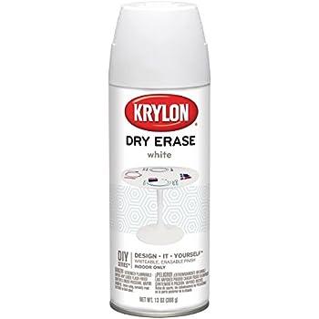 Krylon Dry Erase Aerosol Spray, 11.5 oz, White