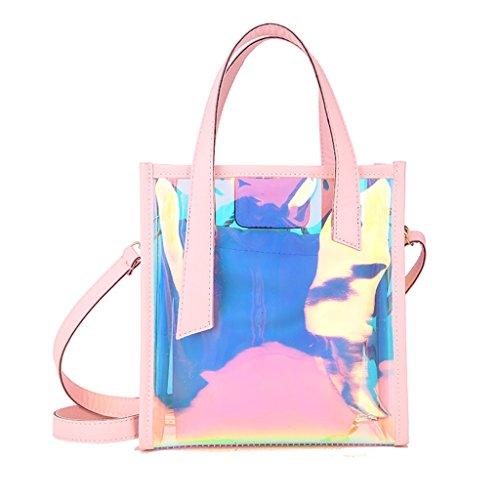 De Creativa Crossbody Mujeres Plata Elegante Yu·casa Bolso color Messenger La Las Wild Jalea Liu Pink Transparente Bag Hombro 5Fxtqv