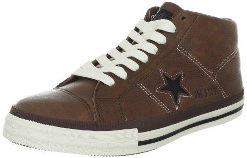 Converse One Star Mid Leather Pinecone/Black 126832C - Zapatillas fashion de cuero para hombre Pinecone/Black