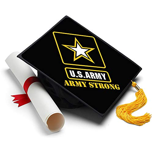 Tassel Toppers Army - Graduation Caps for Future Army Recruits - US Army Decorated Grad Caps (Army Strong)