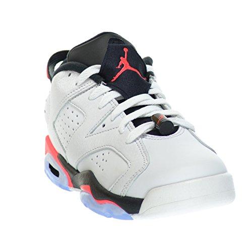Nike Air Jordan 6 Retro Low Bg, Zapatillas de Deporte para Niños white, infrared 23-black
