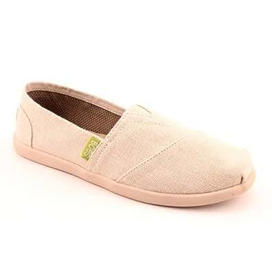 Skechers Bobs World Reuse Womens Slip On Flat Shoes Natural 6