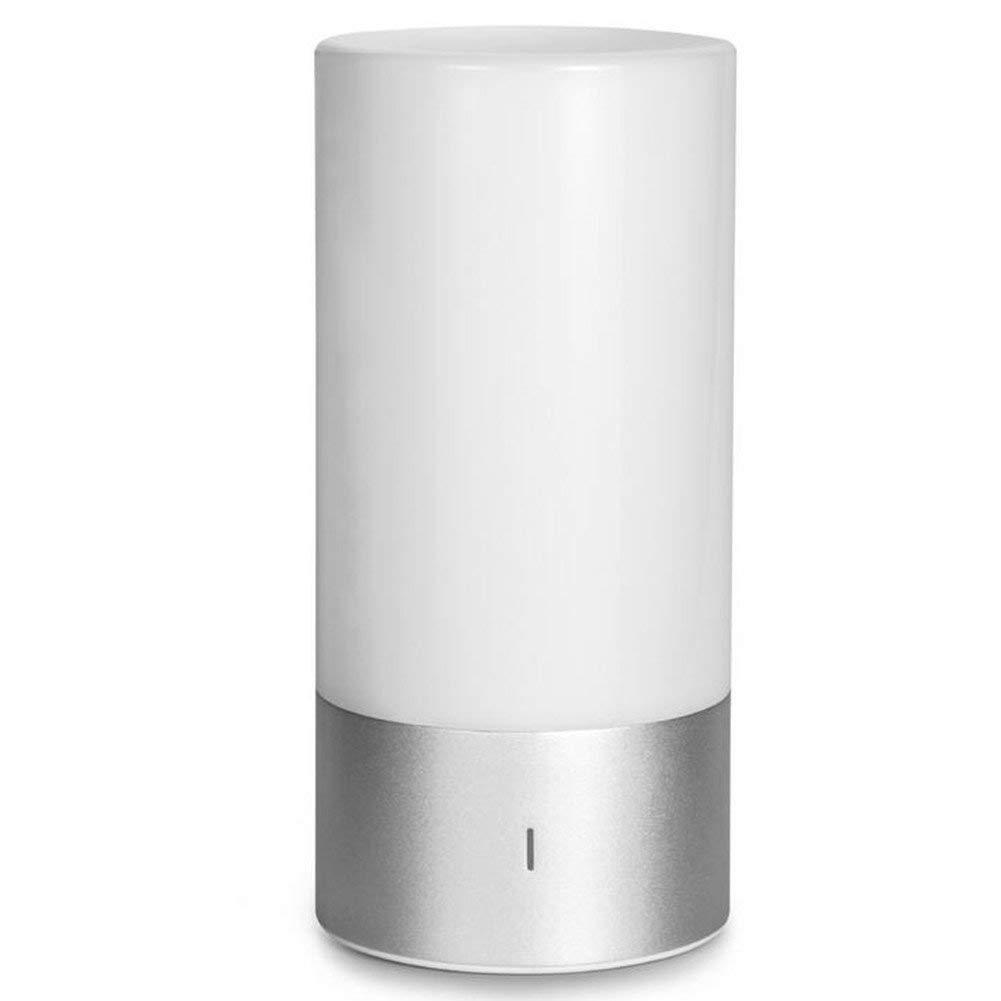 Atmosfera lampada, 3-livello bianco caldo, 256 colorei cambiando altoparlante musica con controllo APP, la luce coModino dimmerabile con pannello di controllo sensibile al tatto luce notturna