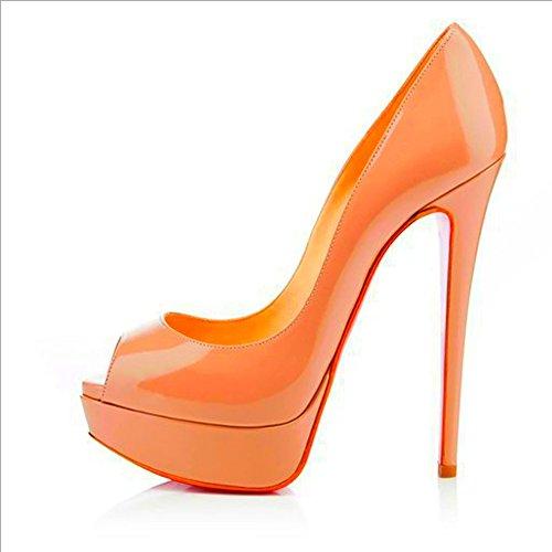 vestito Orange scarpe Heels matrimonio High opzionali impermeabile grandi da Candy Heels bocca Primavera Donne Pesce scarpe estate e piattaforma High moda GAOLIXIA sera dimensioni colore gSqx7Tznwa