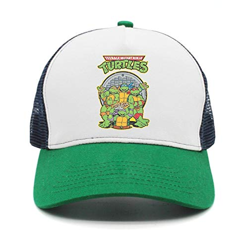 Adjustable Fishing Hat Teenage-Mutant-Ninja-Turtles-Poster- Mesh Baseball Cap for Men