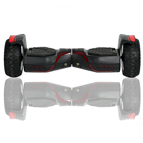 "ECOTRIC 8.5"" Self Balancing Electric Scooter Hoverboard With Bluetooth Speaker and Sensor Light 700W dual motors-each with 350w, For All Terrain Rugged"